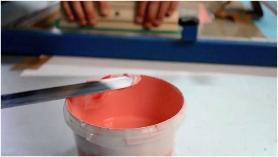 Première expérience avec des encres à l'eau pour sérigraphie
