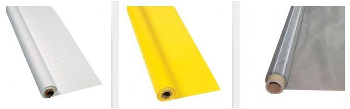 Tissu pour tendre l'écran: blanc, jaune ou acier?
