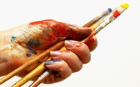 Peindre à la main sur papier siliconé pour transfert sérigraphique