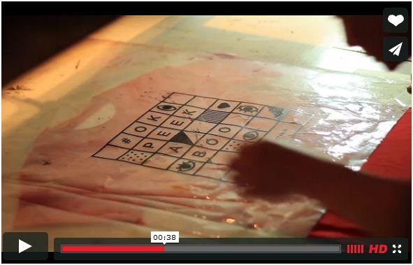 vidéo sur la sérigraphie des tee-shirts
