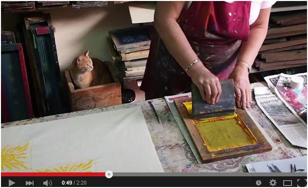 Vidéo sur l'impression sérigraphique à la main