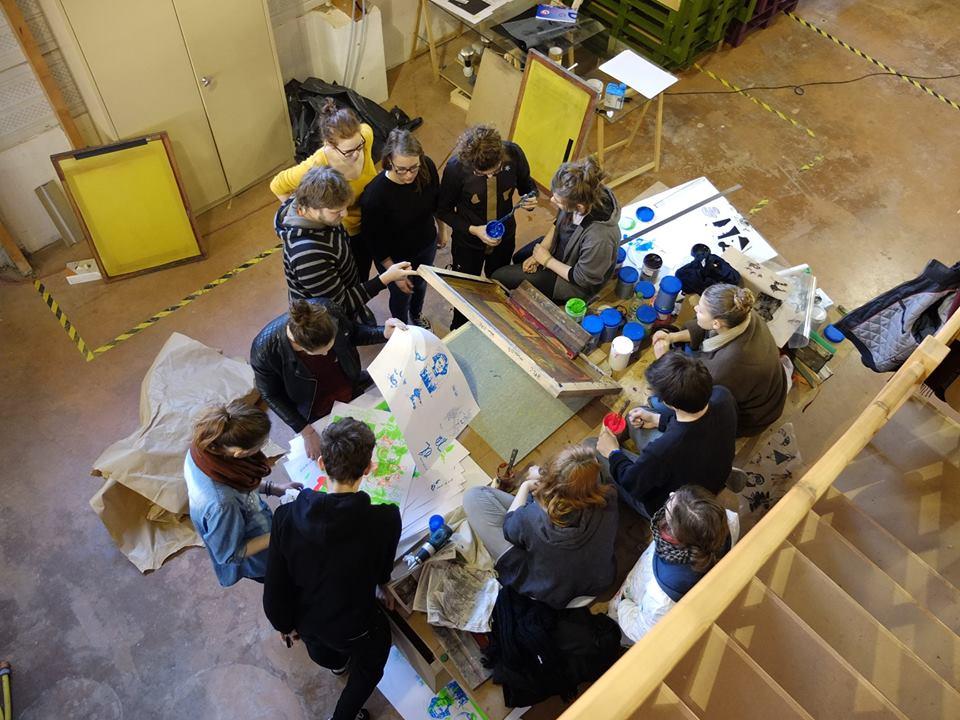 workshop de sérigraphie Metz Lorraine