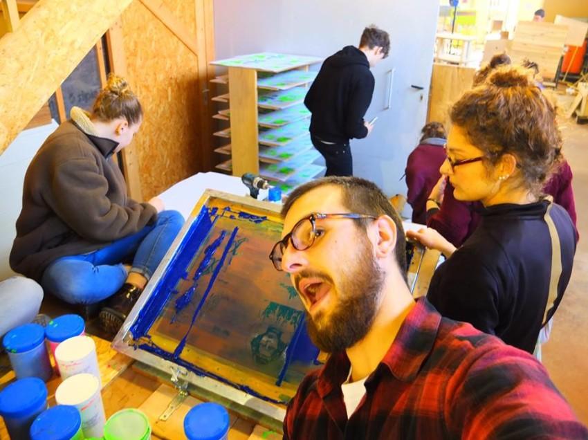 La sérigraphie sort des laboratoires. Interview au Collectif Party Raclette
