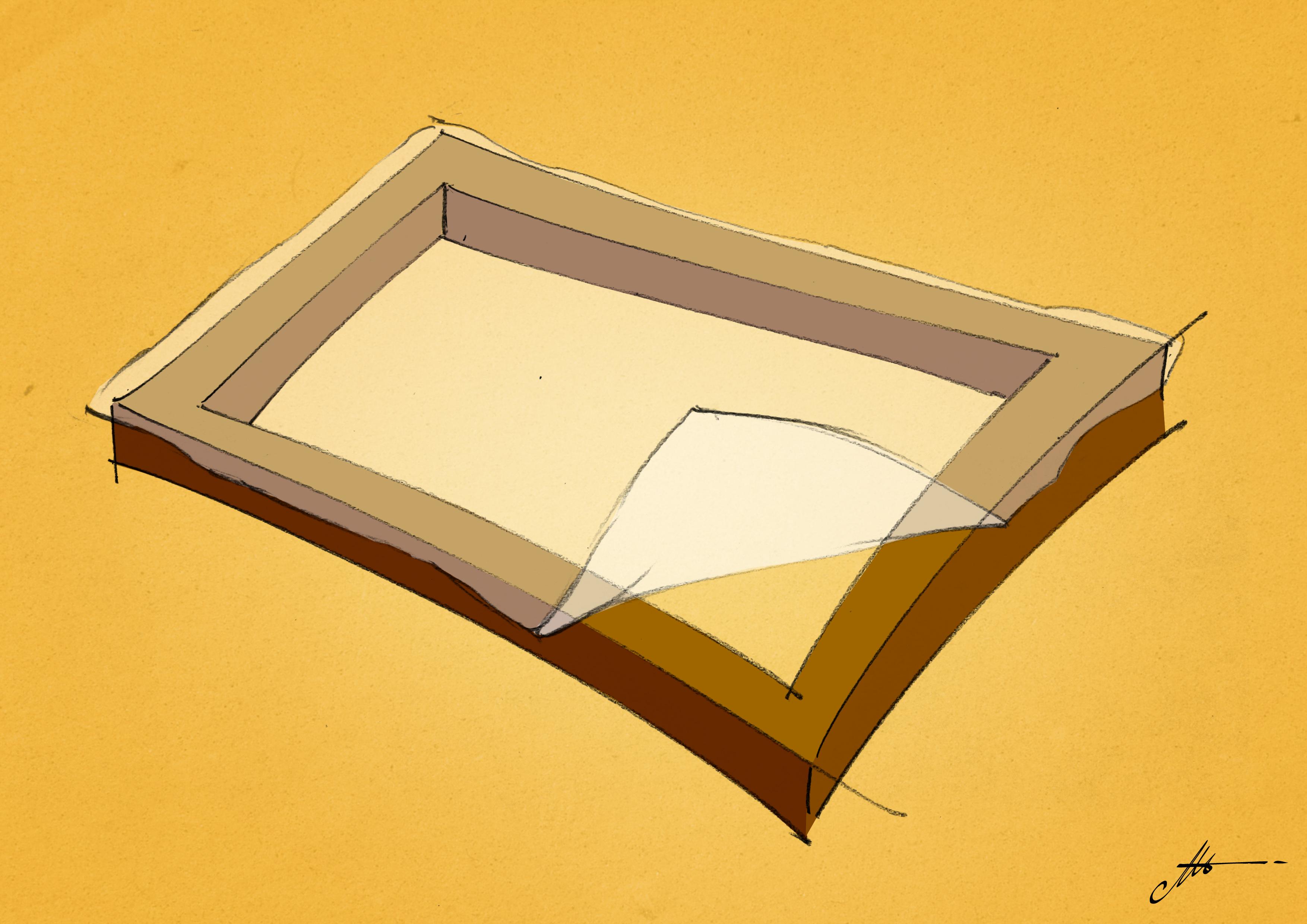 fixer le tissu à l'écran de sérigraphie