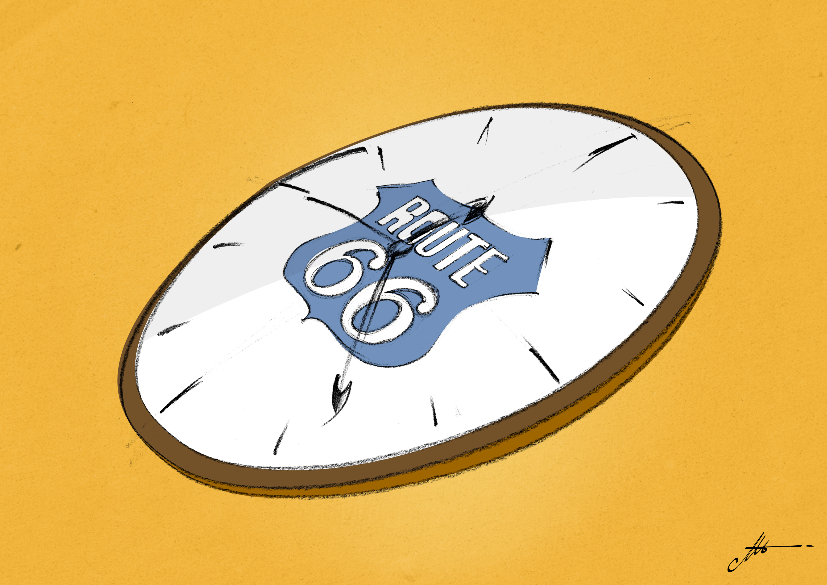 imprimer sur le cadran d'une ancienne montre