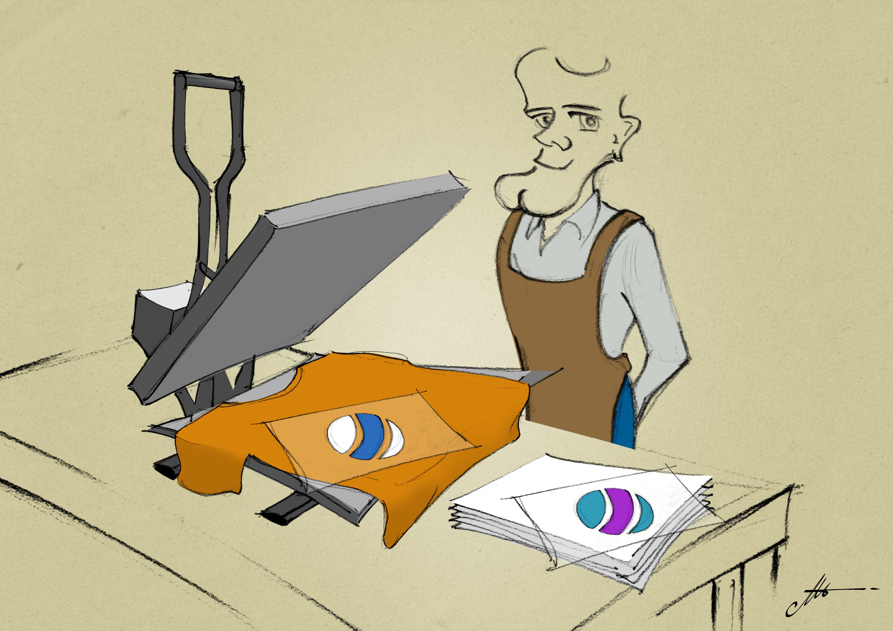 créer un atelier avec presses à chaud et plotter