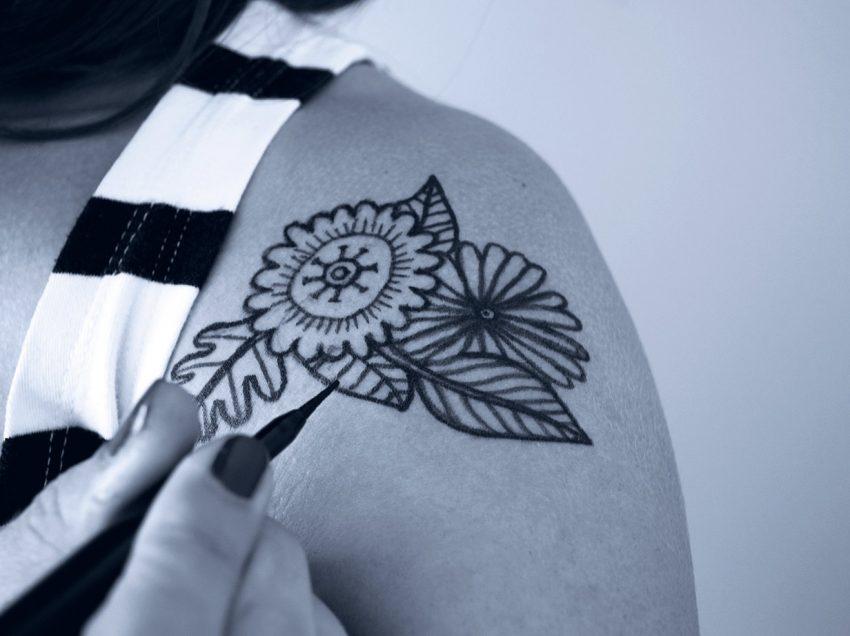 Encres pour imprimer en sérigraphie des tatouages éphémères
