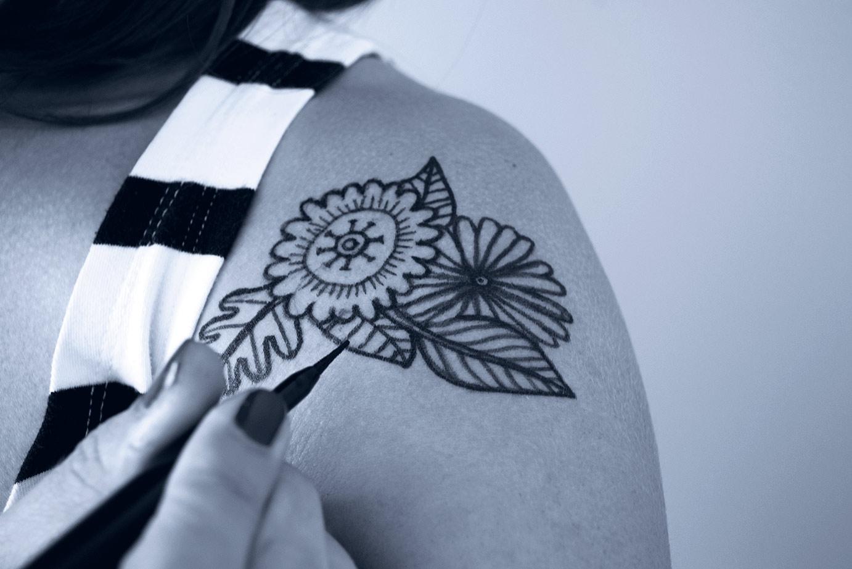 tatuage ephemeres serigraphie