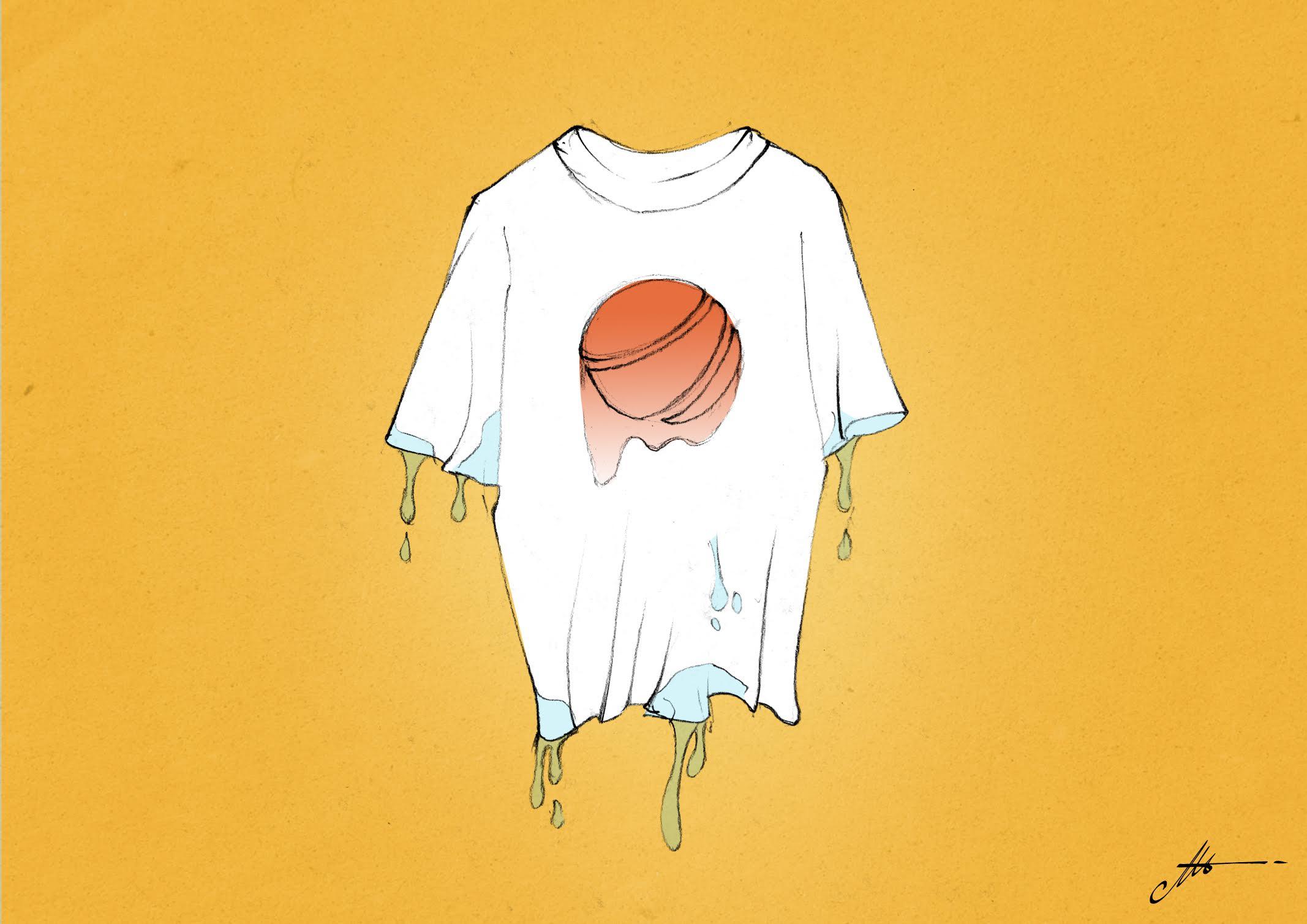 encre à l'eau ne tient pas sur les tee-shirts