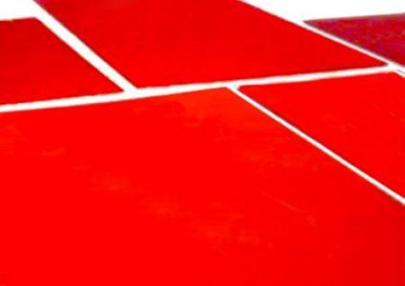 Clichés de tampographie en photopolymère rouge.