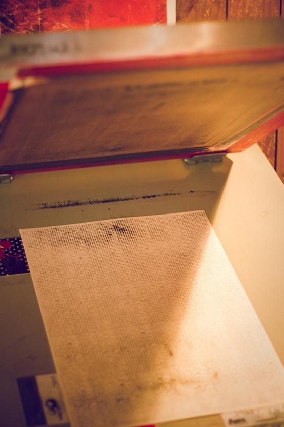 sérigraphie sur papier