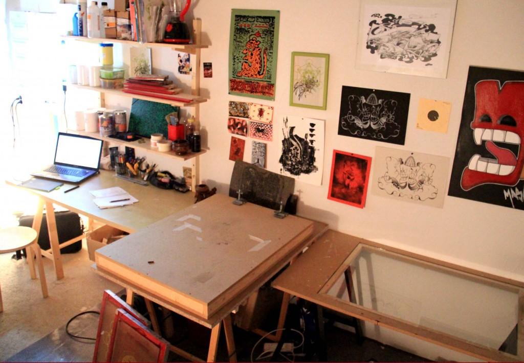 Atelier de sérigraphie Maze