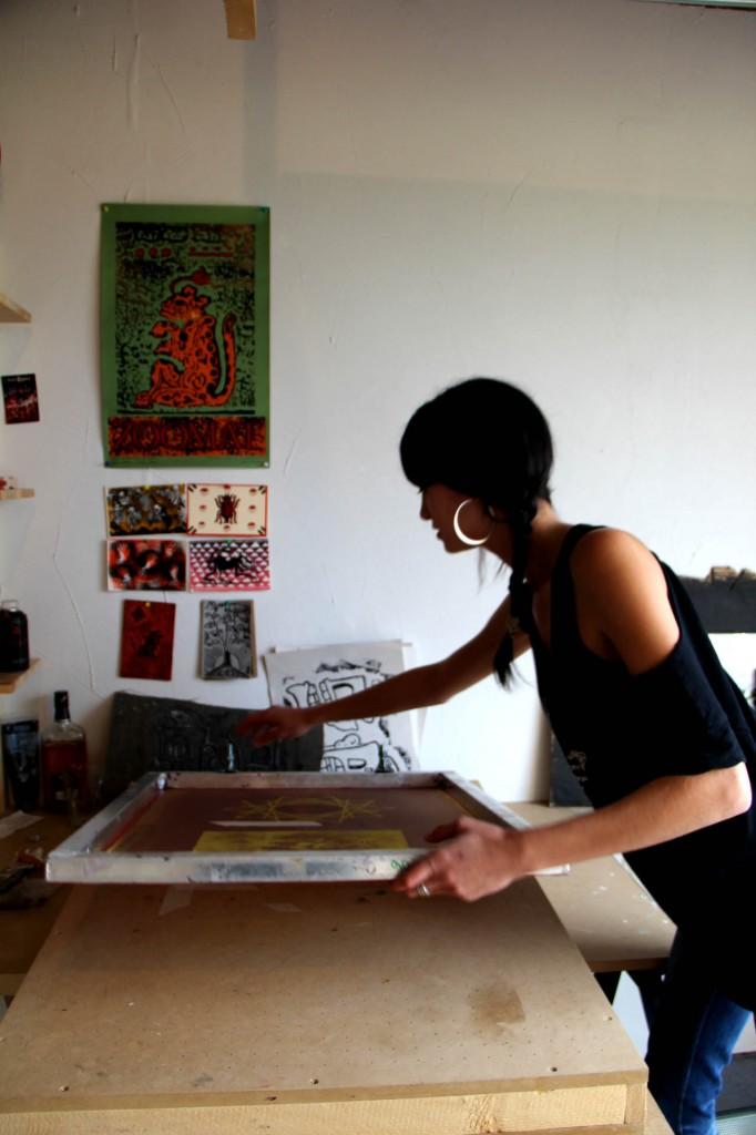 atelier de sérigraphie à Viuz-La-Chiésaz