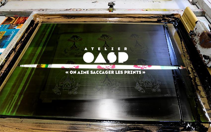 atelier d'impression sérigraphique OASP