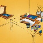 atelier de sérigraphie avec un espace et un budget limités