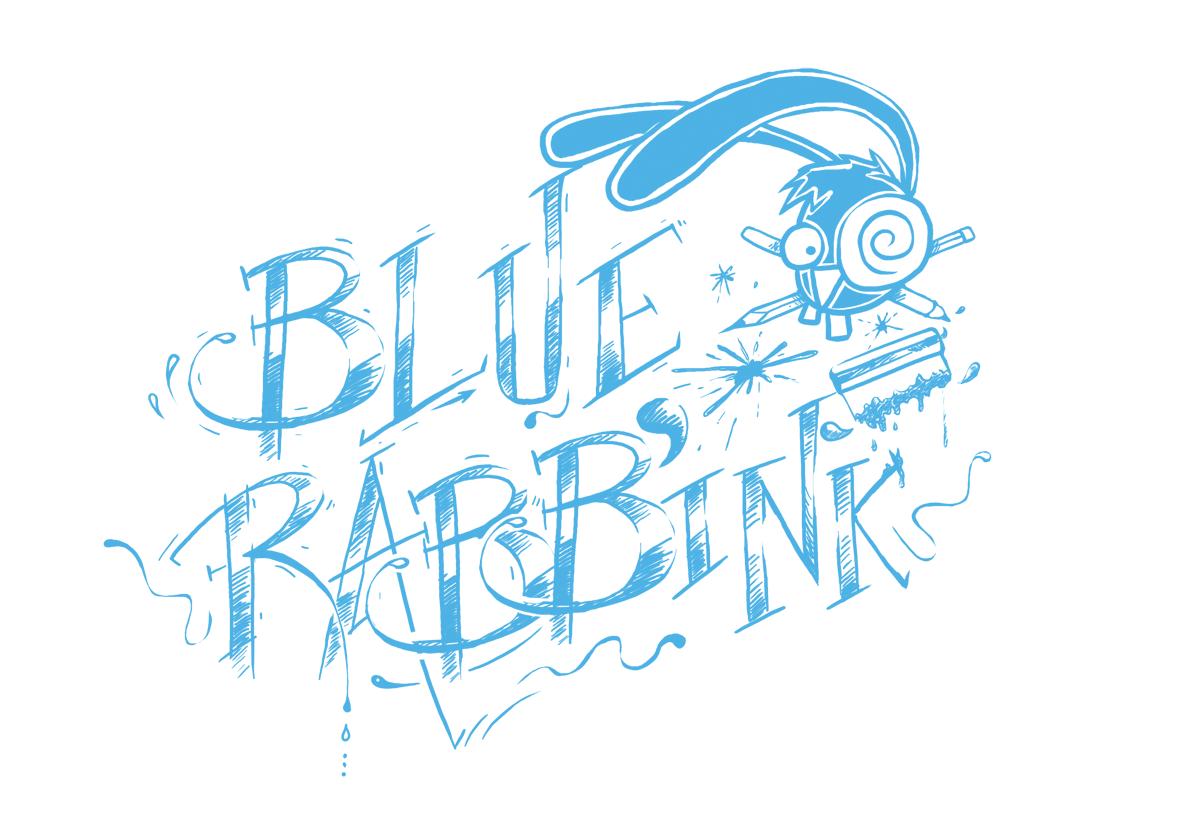 Blue Rabb'ink