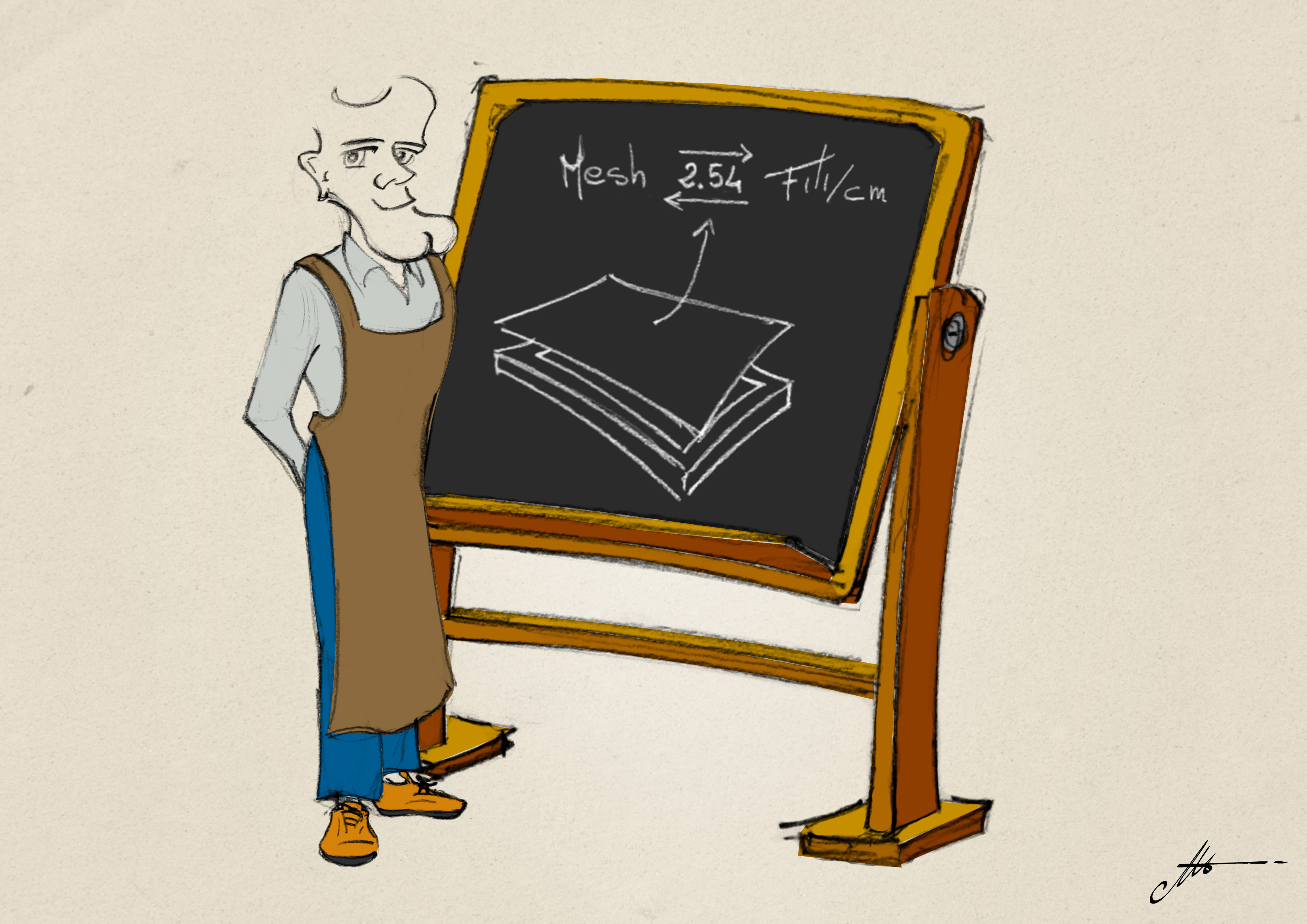 conversion des mesh en fils/cm pour la toile de sérigraphie