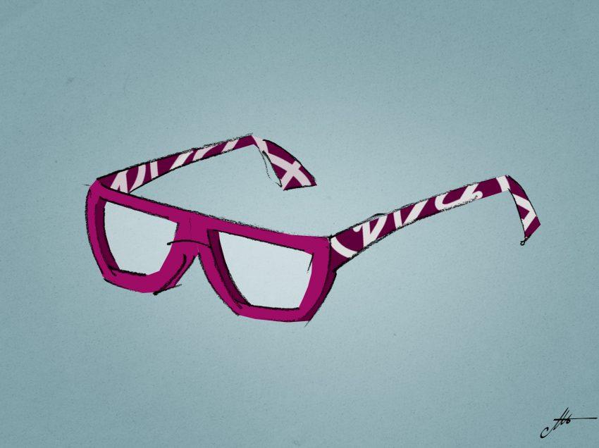 mprimer sans problème sur les branches des lunettes