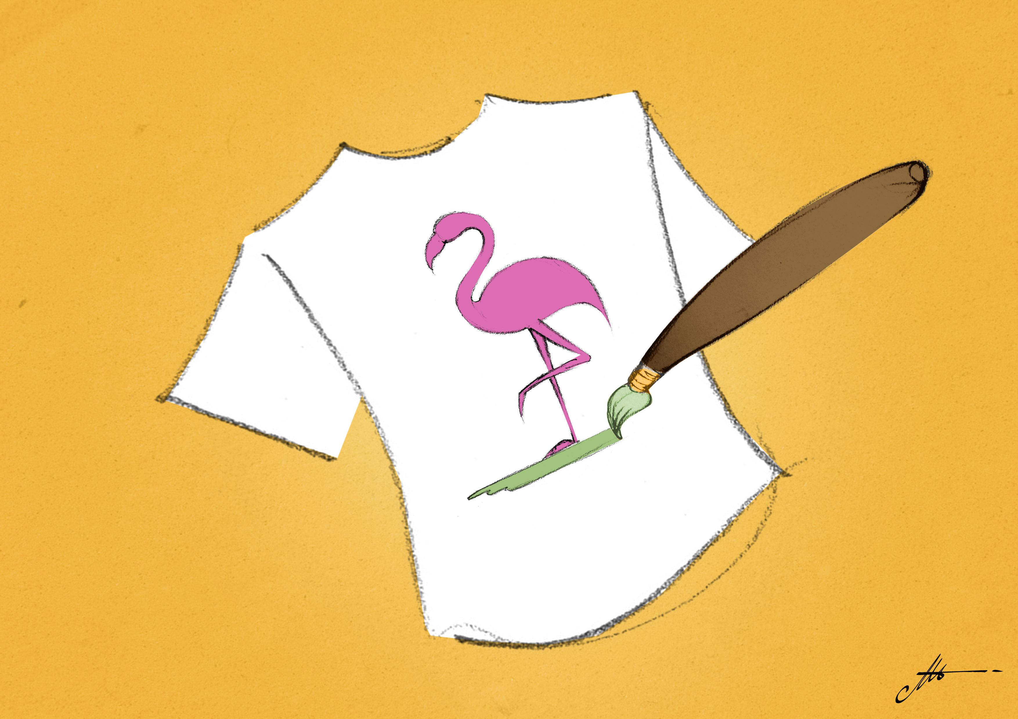 décorer au pinceau un tee-shirt imprimé en sérigraphie